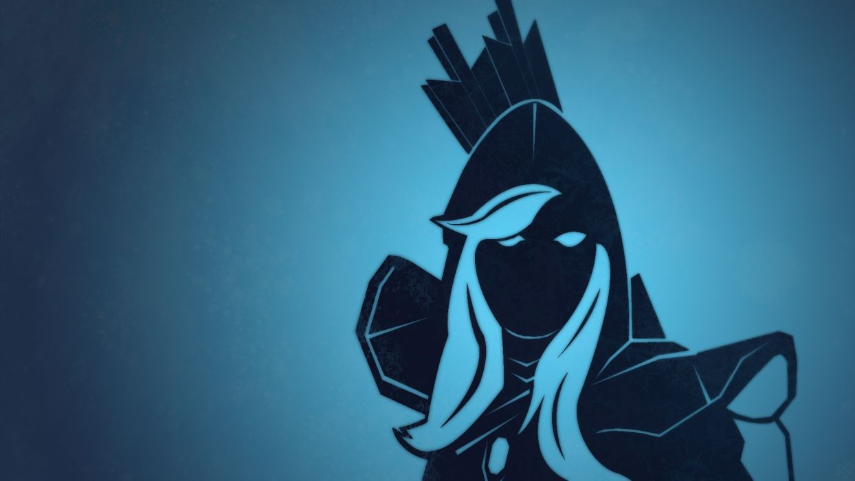 Dota 2 Vector Graphics Warriors Drow Ranger Games Girls Wallpaper