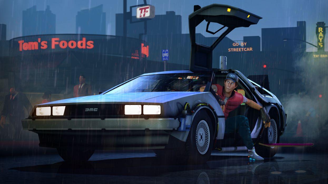 Back to the Future Men DeLorean wallpaper