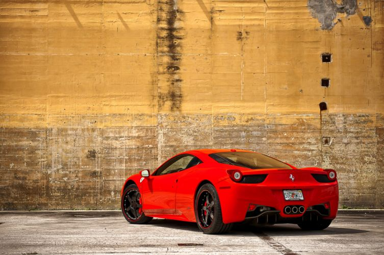 Ferrari 458 italia Red Back wallpaper