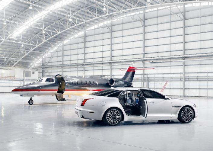 Jaguar Airplane 2012 XJ Ultimate White Side Cars wallpaper