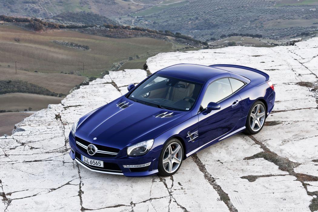 Mercedes-Benz 2012 SL65 AMG Blue Metallic Cars wallpaper
