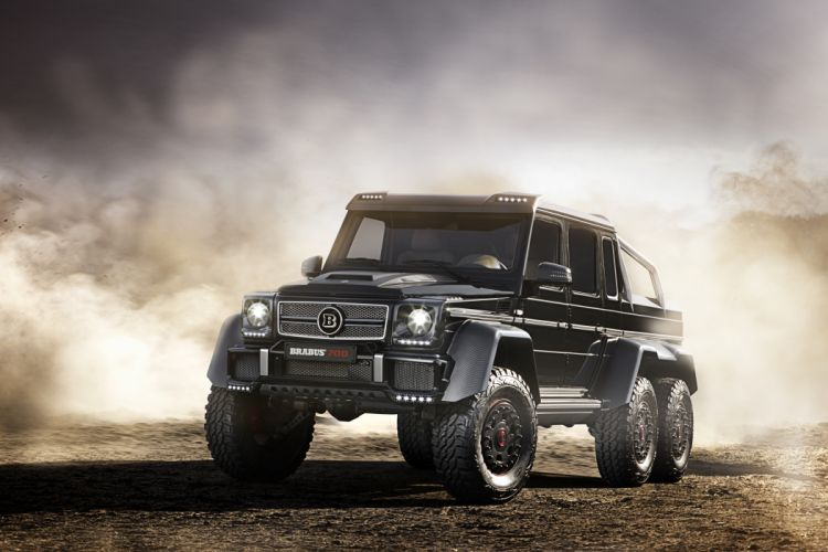 Mercedes-Benz Tuning 2014 Brabus B63S 700 6x6 Black Front Cars wallpaper