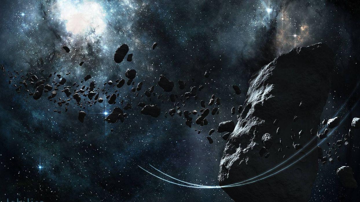 meteoritos planetas espacio wallpaper