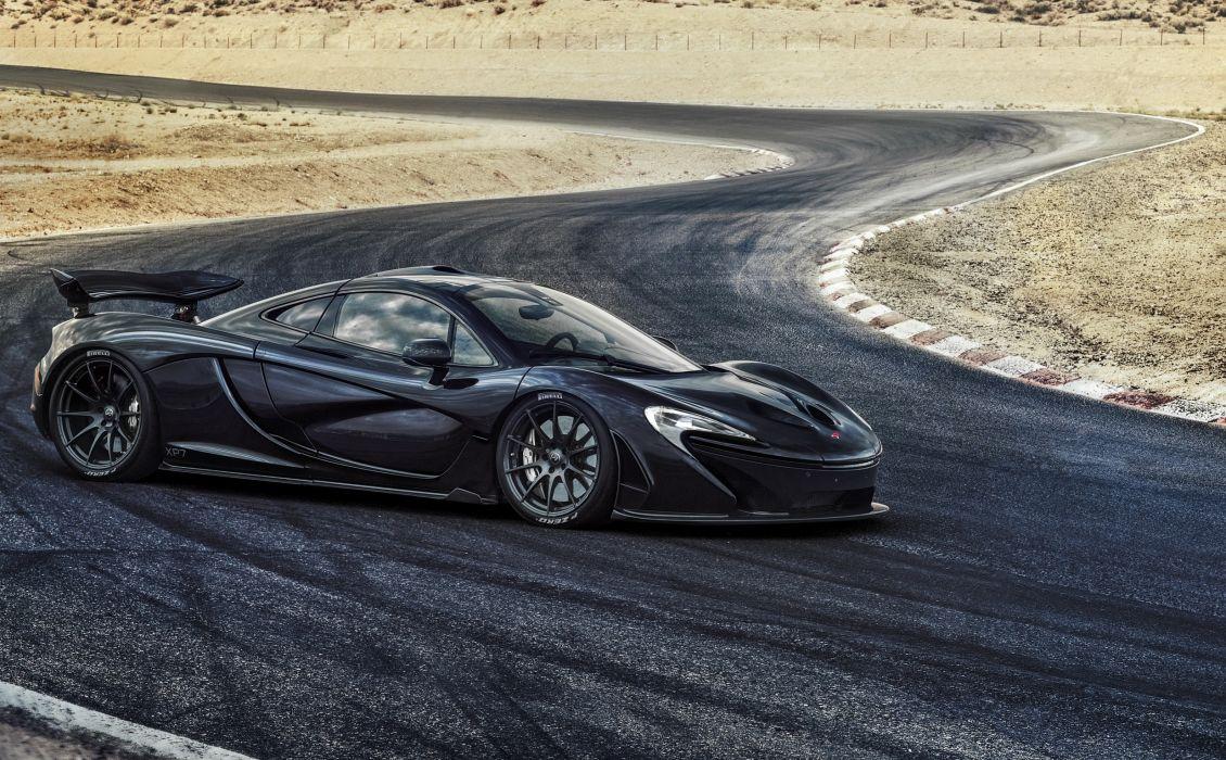 McLaren Roads 2013 P1 Black Side Cars wallpaper