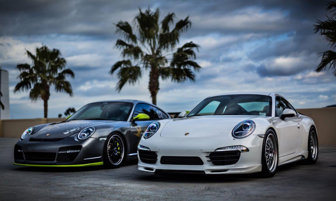Porsche 911 Front White Cars wallpaper