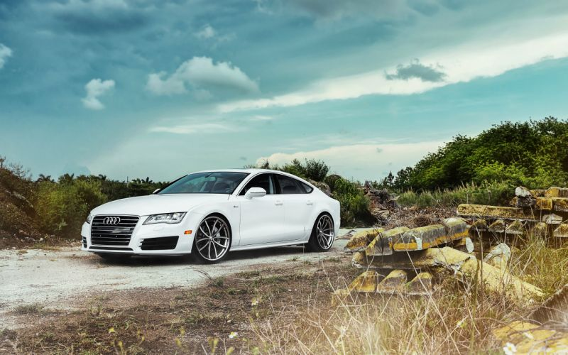 Sky Audi a7 White Clouds Cars wallpaper