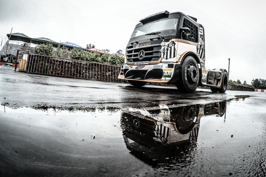 Trucks Mercedes-Benz Formula Truck Geraldo Piquet ABF Santos Puddle Cars wallpaper