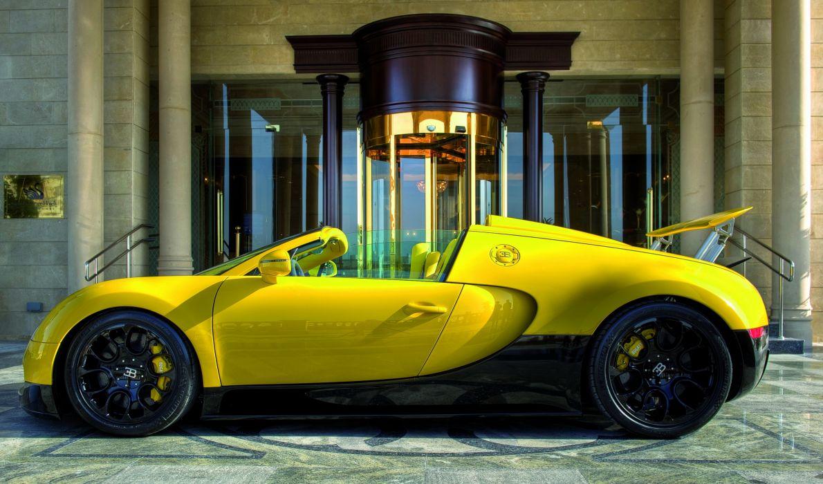 Veyron 16 4 Grand Sport Yellow Side Luxury Cars wallpaper
