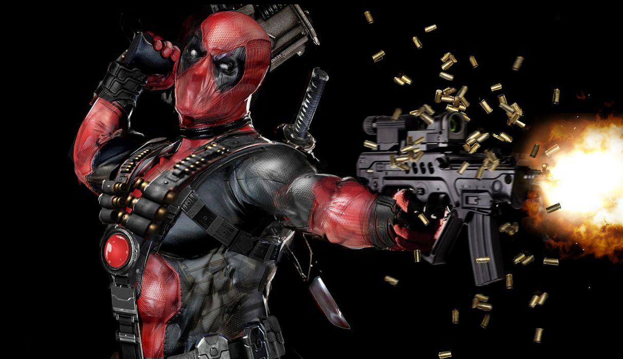 Assault rifle Masks Heroes comics Firing Games Fantasy wallpaper