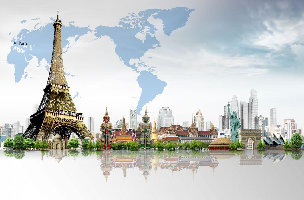 France Eiffel Tower Paris Cities wallpaper