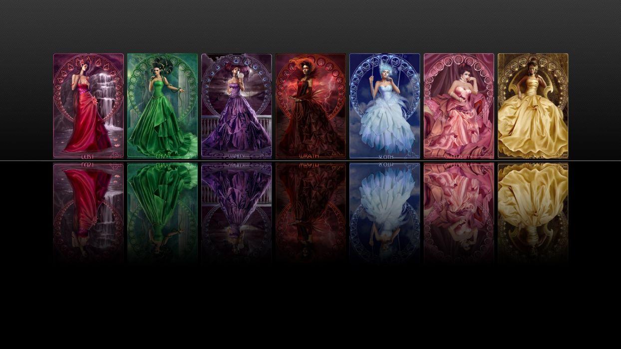 Marta Dahlig Fantasy Girls wallpaper