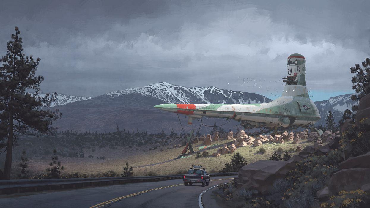 nave espacial tierra ciencia ficcion wallpaper