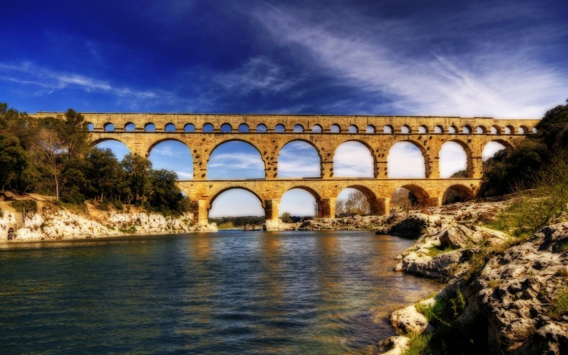 pont du gard acueducto puente francia rio wallpaper