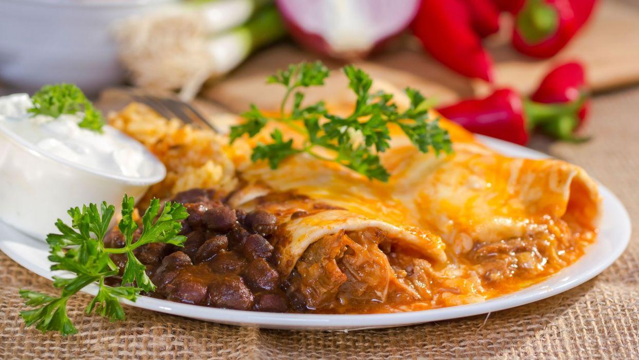 Enchilada plato tipico mexicano wallpaper