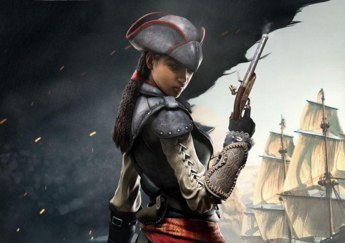 Assassin's Creed 4 Black Flag Pistols Pirates Warriors Hat Braid wallpaper