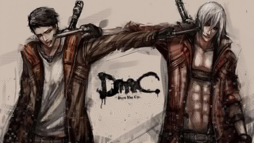 Devil May Cry Dante Painting Art Men Pistols Jacket Games wallpaper