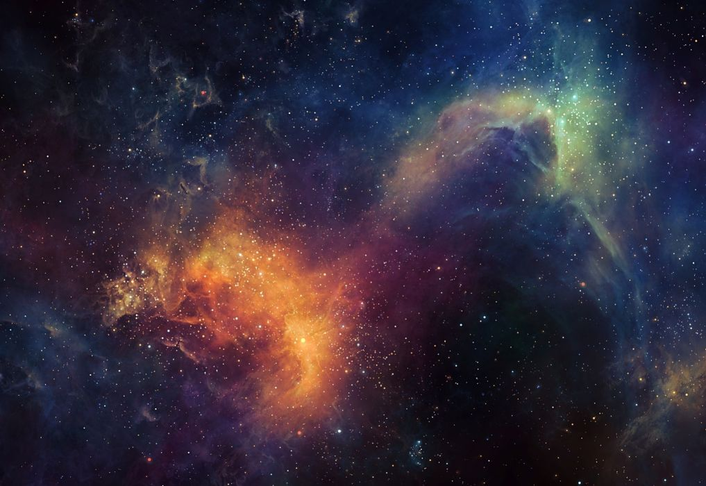 Nebulae in space Stars Space wallpaper