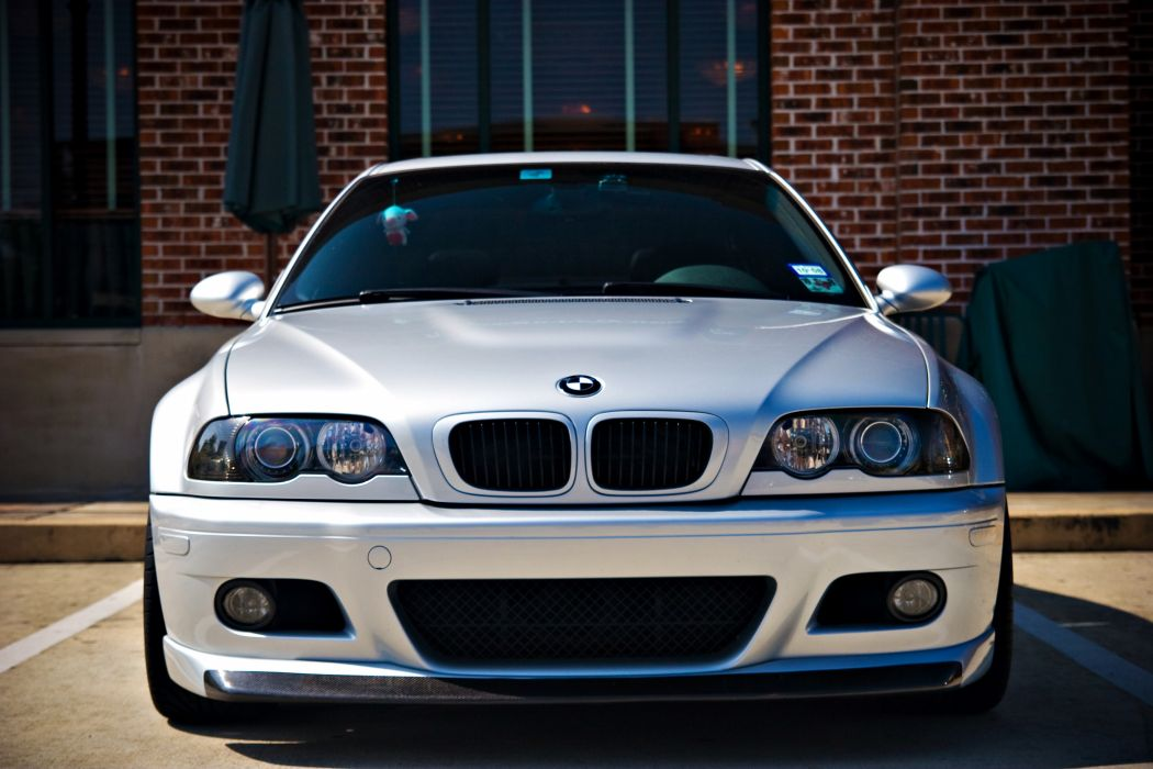 BMW E46 m3 White Front Cars wallpaper