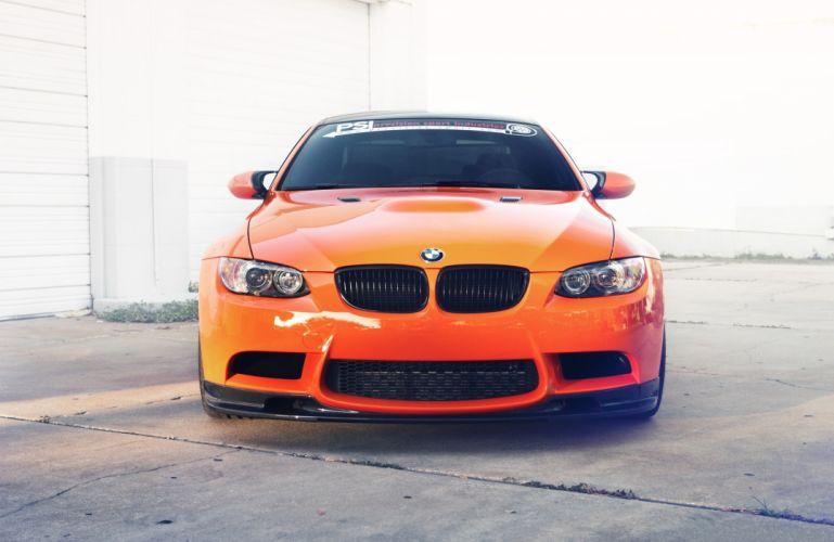 BMW m3 e92 Front Orange Metallic Cars wallpaper