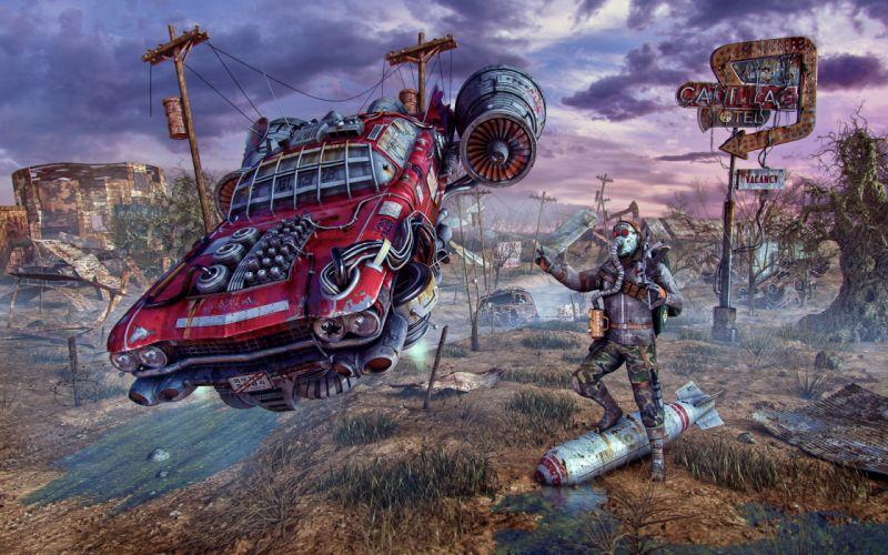 Fallout fan art Games Fantasy Cars wallpaper