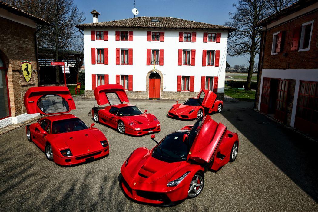 Ferrari F40 F50 Enzo LaFerrari Red Luxury Cars wallpaper