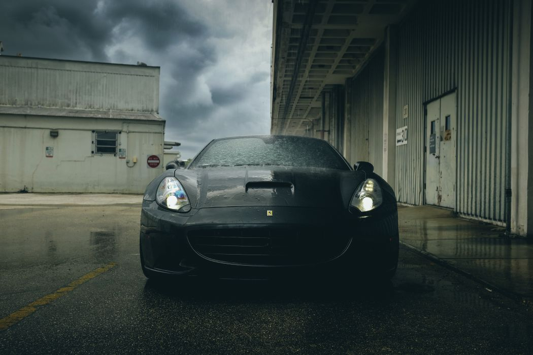 Ferrari Rain Front Black Headlights Cars wallpaper