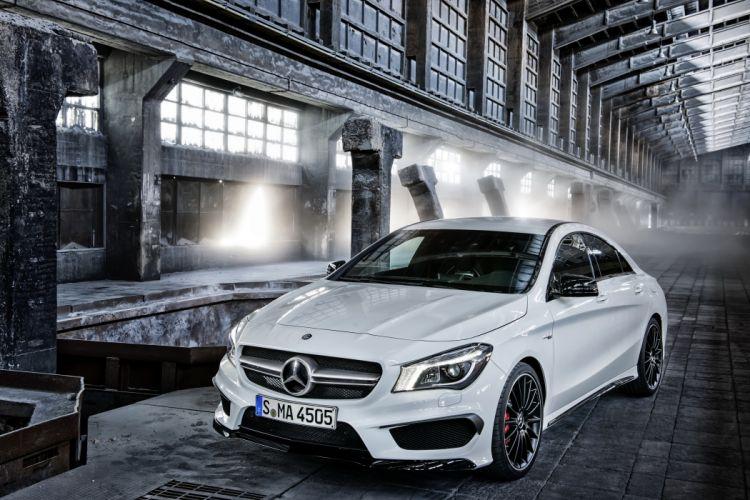 Mercedes-Benz 2013 CLA 45 AMG White Metallic Cars wallpaper