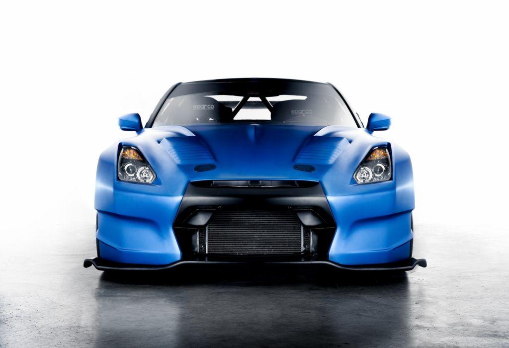 Nissan GT-R Front Light Blue Headlights Cars wallpaper