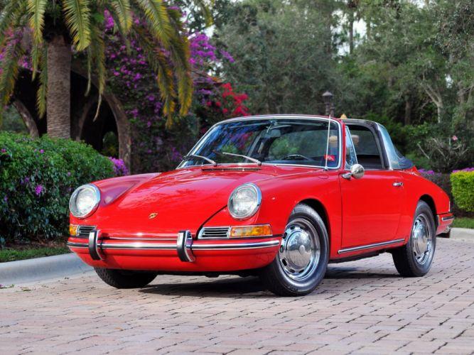 Porsche Retro 1966 911 S Targa Red Cars wallpaper