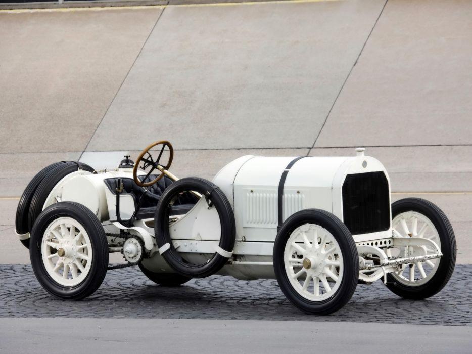 Retro 1908 Benz 120 PS Rennwagen White Cars wallpaper