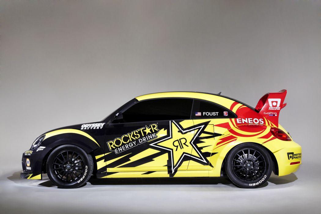 Volkswagen Tuning beetle Red Bull Global Rallycross Side Rallying Cars wallpaper