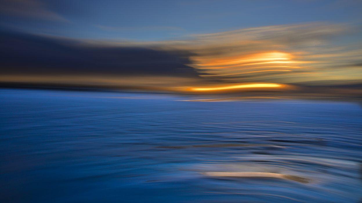 oceano puesta sol naturaleza wallpaper