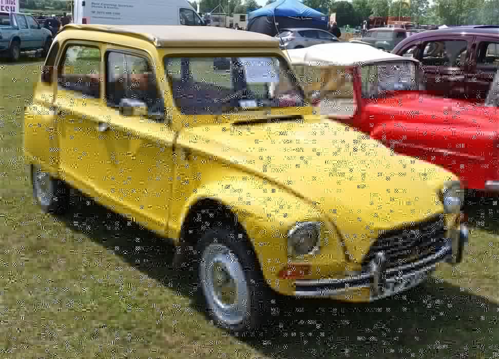 dyane 6 citroen amarillo coche frances wallpaper