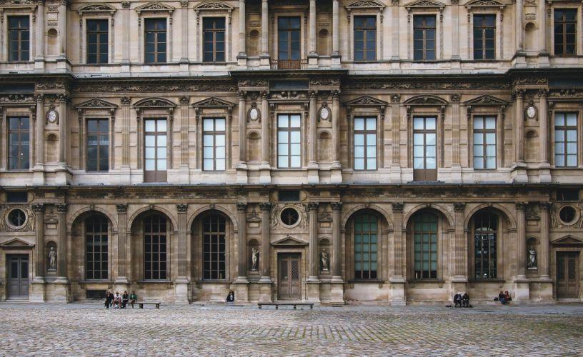 architecture building city facade france historic landmark louvre museum outdoors paris stones tourist attraction windows wallpaper