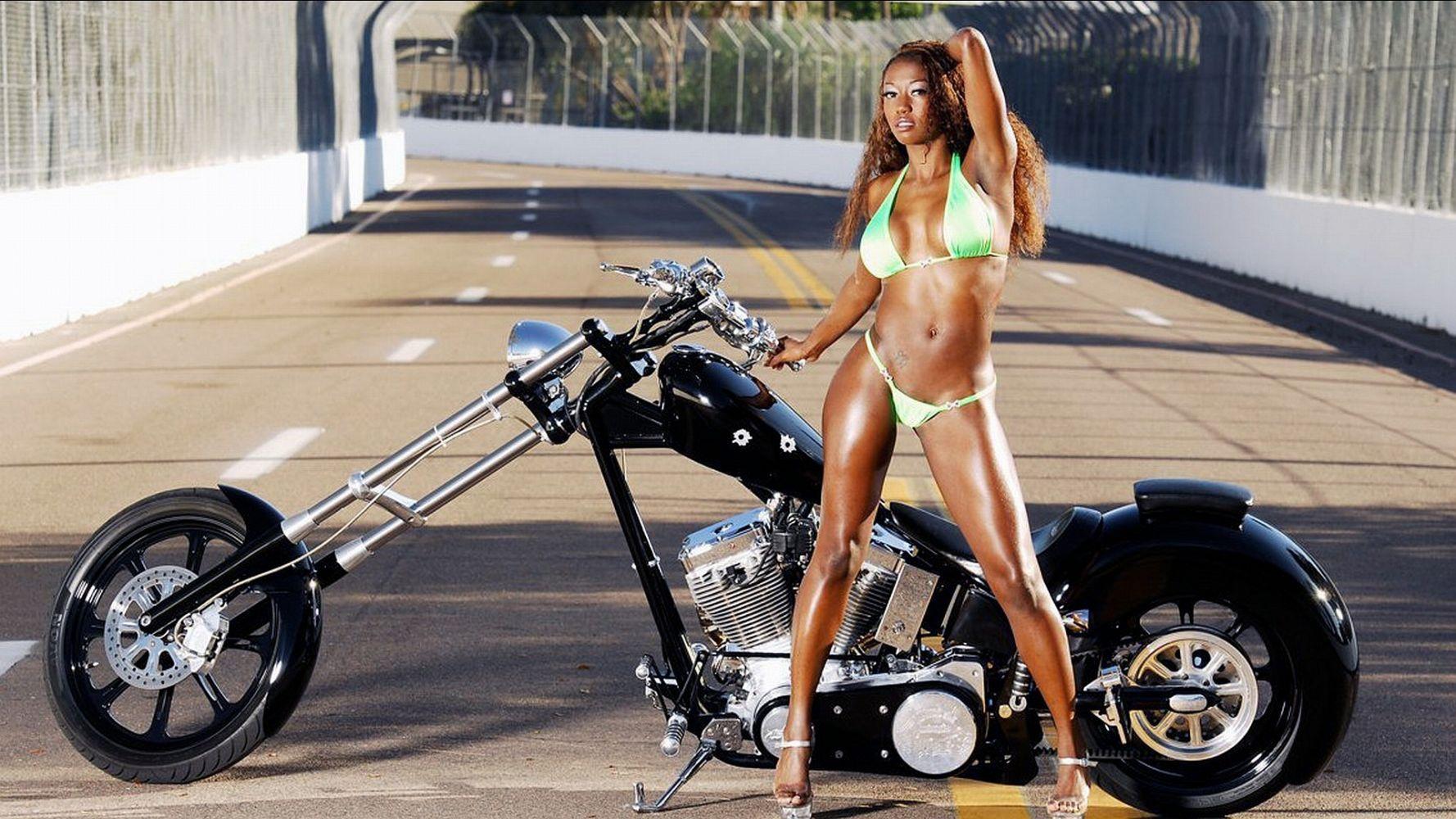 Sexy women riding their sexy motorcycles