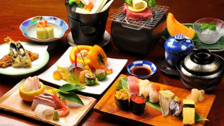 comida tipica japonesa pescado crudo sushi wallpaper