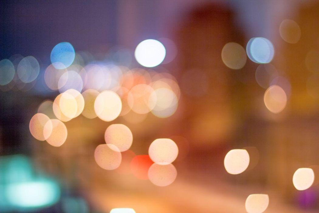 abstract blur blurry bokeh bright color focus glisten illuminated lights luminescence night pattern round shining wallpaper