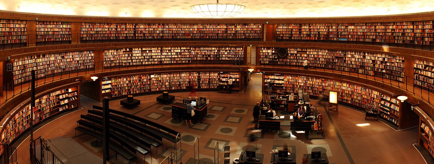 books library students study university wallpaper