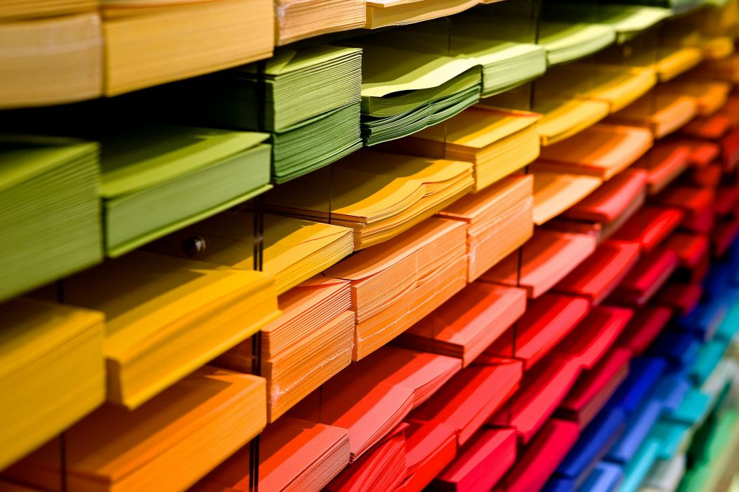bookstore color colorful colourful creative data folders pile red row shelves stacks stationery public domain images wallpaper