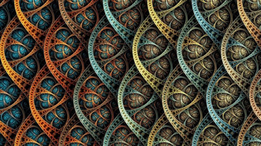 fractal arte abstracto semi circulos wallpaper