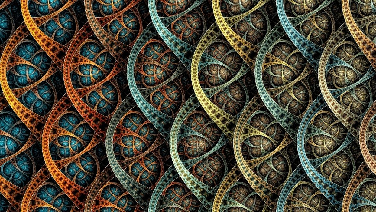 fractal arte abstracto semi circulos wallpaper