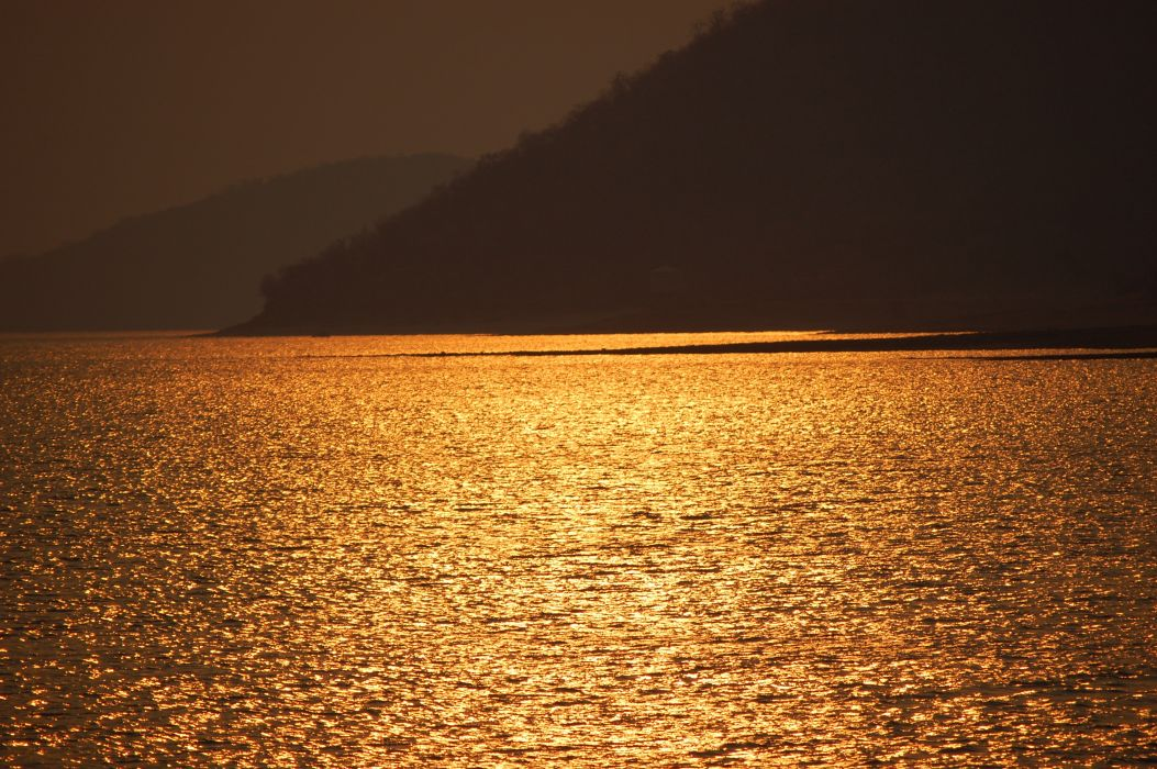 evening nature ocean sea water wallpaper
