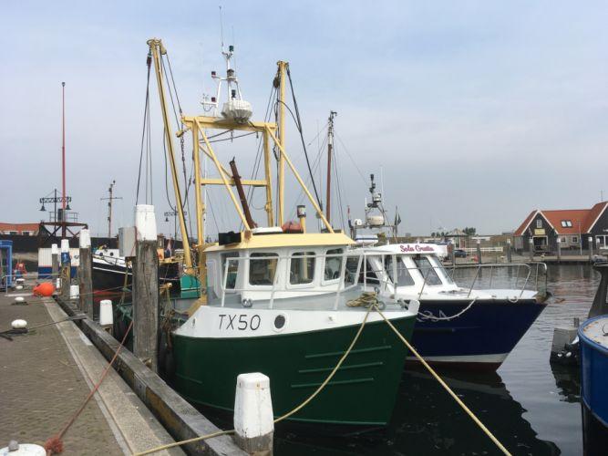 Fishingboats Texel Holland wallpaper