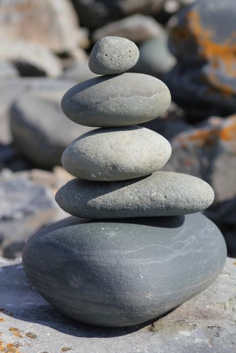 Balance Balancing Boulder Close Up Gravel Rock Rock Balancing