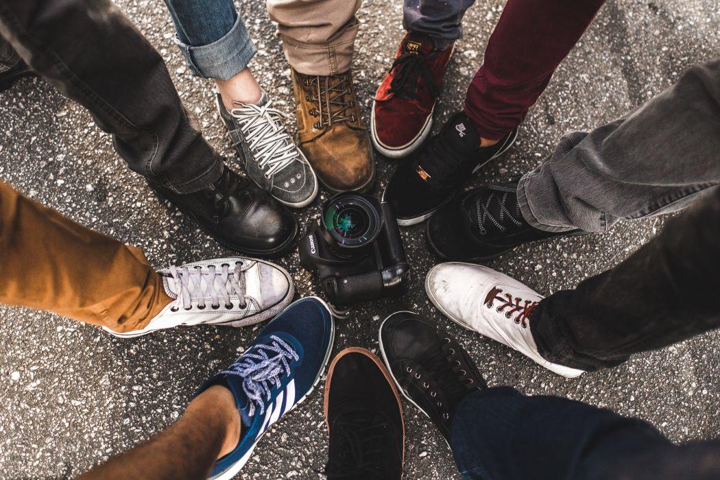 camera feet footwear legs pants shoelaces shoes sneakers wallpaper