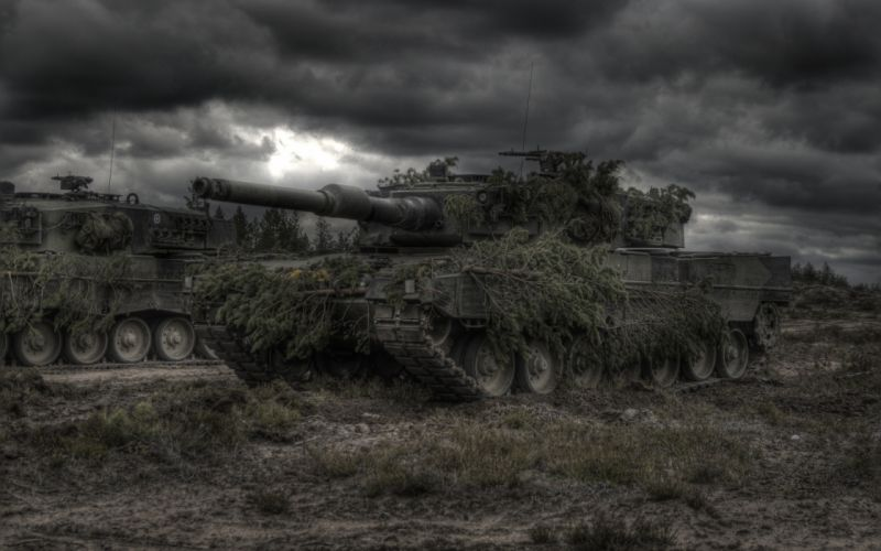 Tanks Leopard 2 Camouflage Army wallpaper