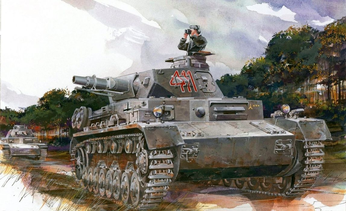 Painting Art Tanks Pz Kpfw IV Ausf Army wallpaper