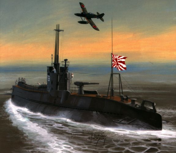 Painting Art Submarines Army wallpaper