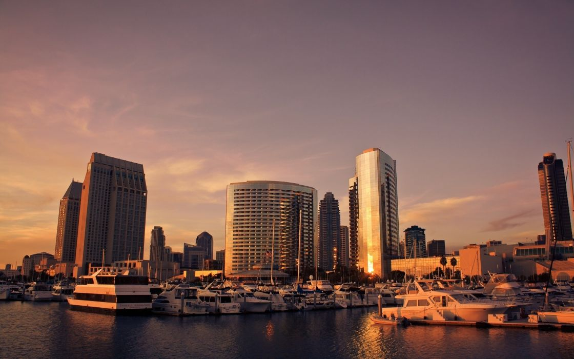 San diego cityscapes sunset sky beauty city wallpaper