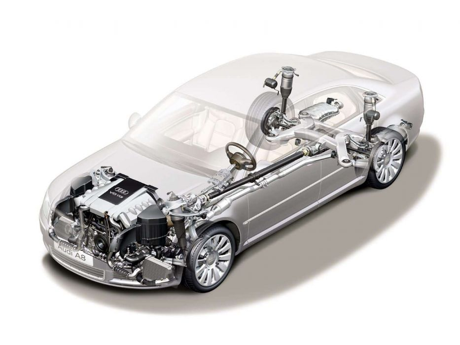 Audi A8 4 0 TDI quattro 4E-D3 2003 Cutaway wallpaper